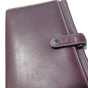 Coach leather planner cover purple